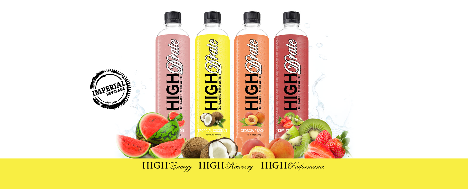 Imperial Beverage Highdrate CBD Energy Water